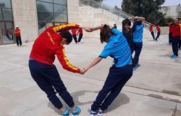 ẢNH: Đội tuyển nữ Việt Nam tập nhẹ tại khách sạn Holliday Inn (Jordan)
