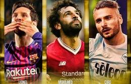 """Giày vàng châu Âu: Cuộc đua """"không cân sức"""" giữa Messi và Salah"""