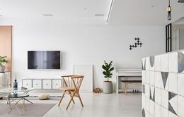 Thiết kế đơn sắc trong căn hộ hiện đại