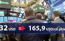 Cổ phiếu Spotify tăng mạnh trong lần đầu IPO