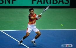 ẢNH: Lý Hoàng Nam có chiến thắng đầu tiên tại Davis Cup