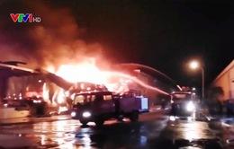 Cháy nhà máy sản xuất xơ sợi Texhong - Ngân Long