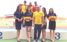 Đoàn Việt Nam giành ngôi nhì toàn đoàn tại giải Điền kinh trẻ Đông Nam Á 2018