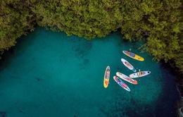 """""""Thời tiết này đi đâu?"""":  Chèo thuyền SUP trên hồ Hoà Bình"""