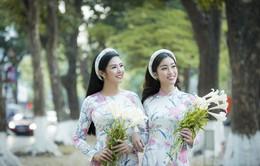Ngọc Hân và Mỹ Linh như chị em sinh đôi trong bộ ảnh áo dài