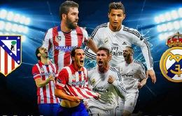 Lịch thi đấu bóng đá quốc tế hôm nay, 8/4: Tâm điểm derby Madrid, Real – Atletico