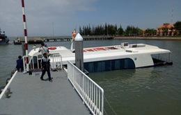 Việc trục vớt tàu cao tốc bị chìm trên biển Cần Giờ đã hoàn tất