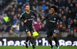 VIDEO Brighton 0-4 Chelsea: Hazard lập cú đúp tuyệt đẹp