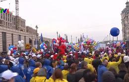 Hơn 120.000 người tham gia tuần hành ngày Quốc tế Lao động tại Moscow