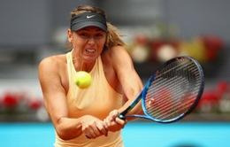 Maria Sharapova dễ dàng vào tứ kết Madrid mở rộng 2018