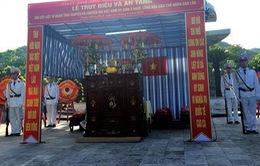 Thừa Thiên Huế: Lễ truy điệu, an táng liệt sỹ hy sinh tại Lào