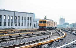 Hình ảnh chạy thử tàu trên tuyến đường sắt trên cao Cát Linh - Hà Đông
