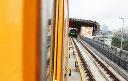 Hôm nay (12/5), tàu tuyến đường sắt Cát Linh - Hà Đông chạy thử
