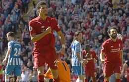 Ngoại hạng Anh vòng cuối: Liverpool tưng bừng, Man City chạm mốc 100 điểm