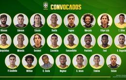CHÍNH THỨC: ĐT Brazil công bố đội hình dự World Cup 2018