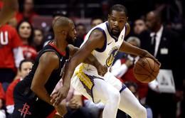 """Game 1 chung kết miền Tây NBA: Kevin Durant """"nhấn chìm """"Houston Rockets"""