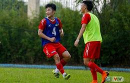 ẢNH: Cầu thủ HAGL cười thả phanh trong buổi tập trước trận gặp CLB Hà Nội