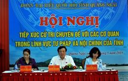 Chánh án Tòa án nhân dân tối cao Nguyễn Hòa Bình tiếp xúc cử tri tại Quảng Ngãi