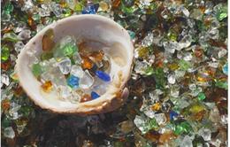 Bãi biển không tên ở Nhật Bản được làm bằng thủy tinh tái chế