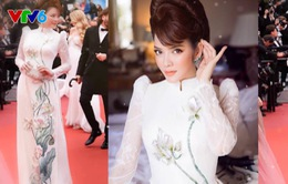 Thảm đỏ Cannes 2018 ấn tượng mạnh với chiếc áo dài Việt Nam của Lý Nhã Kỳ
