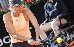 Ngược dòng trước Cibulkova, Sharapova tiến vào vòng 3 Rome mở rộng 2018