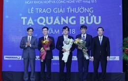 Công bố 3 nhà Khoa học đạt giải thưởng Tạ Quang Bửu năm 2018