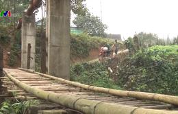 Cầu tạm mất an toàn ở Thái Nguyên