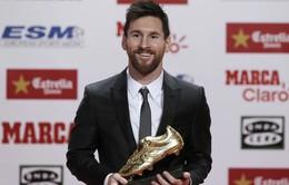 """Lionel Messi lần thứ 5 giành """"Chiếc giày vàng"""" châu Âu"""