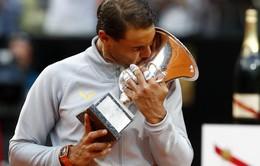 Vượt qua Zverev, Nadal lần thứ 8 vô địch Rome Masters