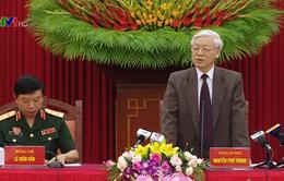 Tổng Bí thư Nguyễn Phú Trọng tiếp đại biểu công đoàn quân đội tiêu biểu