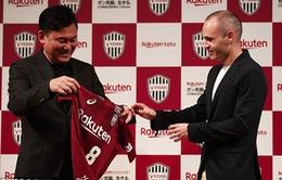 Andres Iniesta họp báo ra mắt CLB Vissel Kobe