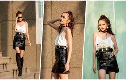 Ngọc Châu Next Top Model cá tính trong bộ ảnh street style