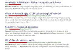 Cẩn trọng với thông tin quảng cáo thực phẩm bảo vệ sức khỏe Rocket và Roket1h