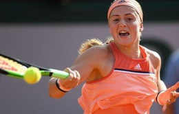 ĐKVĐ Jelena Ostapenko dừng bước ngay tại vòng 1 Pháp mở rộng 2018