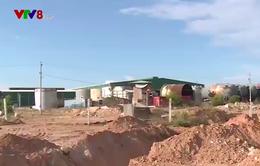 Nhà máy giấy ở Quảng Ngãi vùi lấp ruộng của dân