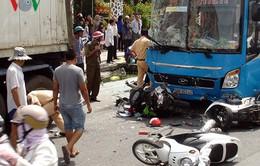 Tai nạn giao thông liên hoàn tại Vĩnh Long, 5 người nhập viện