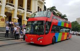 Hôm nay (30/5), xe bus 2 tầng Citytour ở Hà Nội đi vào hoạt động