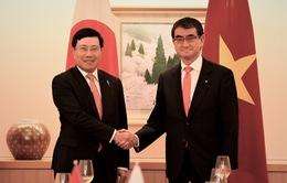 Phó Thủ tướng Phạm Bình Mình hội đàm với Bộ trưởng Ngoại giao Nhật Bản