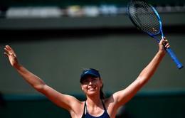 Sharapova vất vả vượt qua vòng 2 Pháp mở rộng 2018