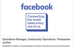 Facebook tuyển nhân sự cho thị trường Việt Nam