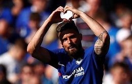 VIDEO: Giroud ghi bàn với lưới Liverpool, mở tỷ số cho Chelsea