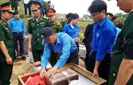 Hà Tĩnh: Truy điệu và an táng 12 hài cốt chuyên gia, quân tình nguyện hi sinh tại Lào
