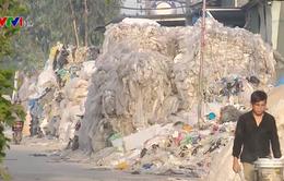 Ô nhiễm trầm trọng ở làng tái chế nhựa lớn nhất miền Bắc