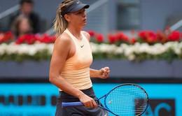 Sharapova thẳng tiến vào vòng 3 đơn nữ Madrid mở rộng 2018