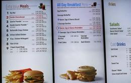 Mỹ: công bố calo trong thực đơn tại các nhà hàng lớn để chống béo phì
