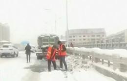Giá rét làm đóng băng miền bắc Trung Quốc