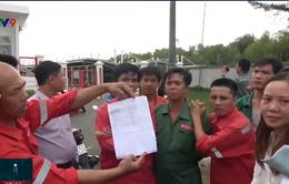 Vũng Tàu: Hàng trăm công nhân đóng tàu đình công