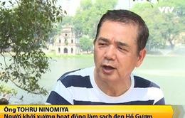 """""""Làm sạch đẹp hồ Gươm với Ninomiya"""""""