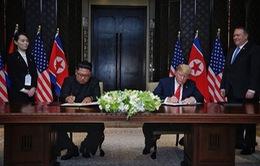 Tổng thống Trump: Thỏa thuận lịch sử Mỹ - Triều sẽ mở ra tương lai tươi sáng của khu vực