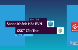 Tổng hợp diễn biến trận Sanna Khánh Hòa BVN 2-1 XSKT Cần Thơ (Vòng 13 Nuti Café V.League 2018)